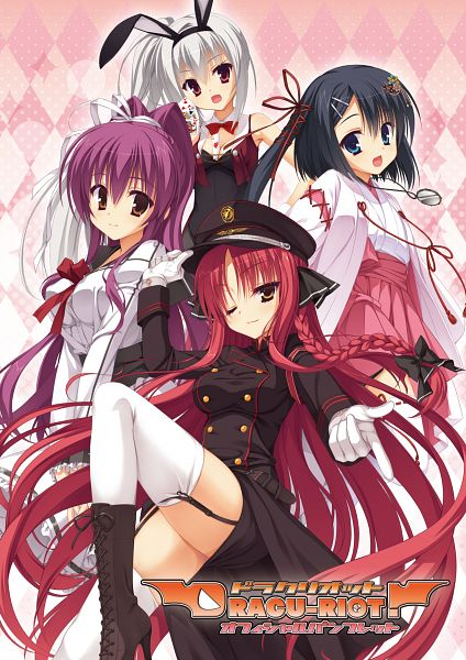 Tags: Anime, Muririn, Kobuichi, Yuzusoft, Dracu-riot!, Mera Azusa, Inamura Rio, Elena Olegovna Owen, Yarai Miu, Official Art