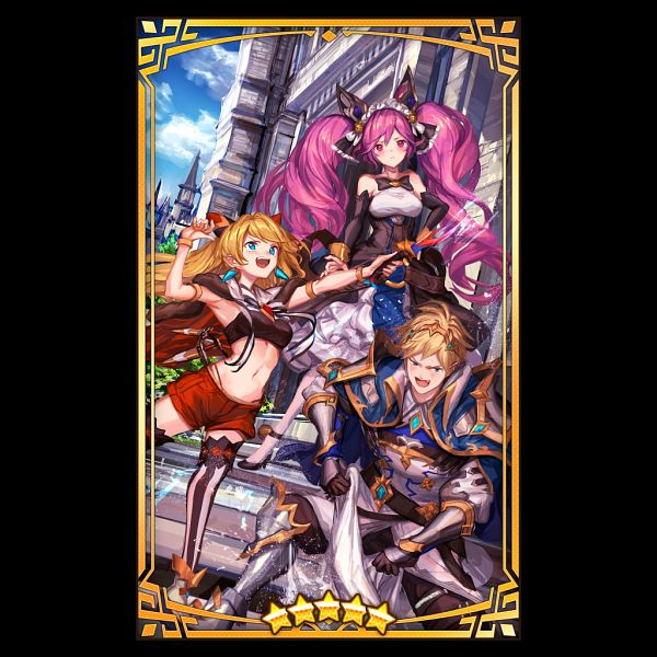 Tags: Anime, LM7, Cygames, Nintendo, Dragalia Lost, Ezelith, Clau, Alexis, Official Art, Official Card Illustration