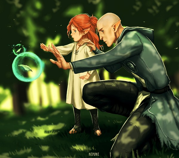 Tags: Anime, Nipuni, Dragon Age: Inquisition, Fan Character, Solas, Tumblr, Fanart