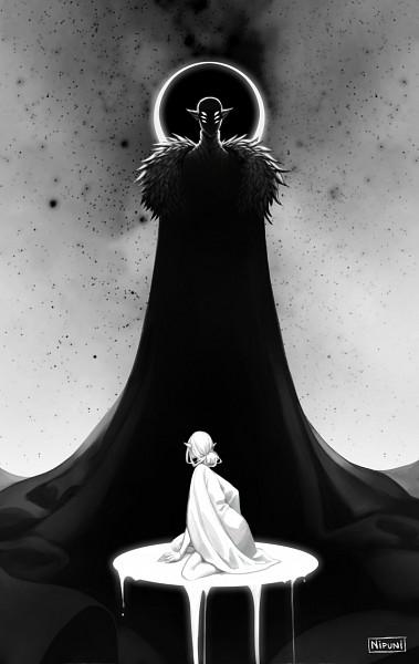 Tags: Anime, Nipuni, Dragon Age: Inquisition, The Inquisitor, Solas, Tumblr, Fanart