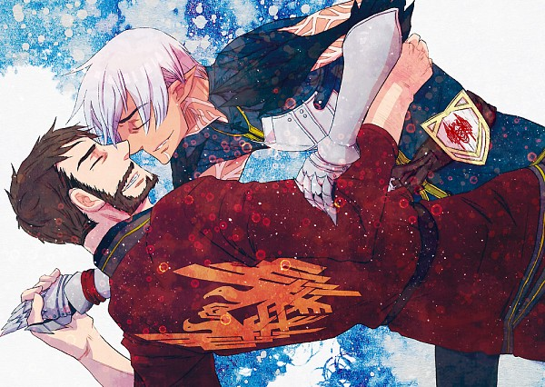 Tags: Anime, Pixiv Id 434605, Dragon Age, Dragon Age 2, Fenris, Hawke (Dragon Age 2), Garrett Hawke, Pixiv, Fanart, Fanart From Pixiv