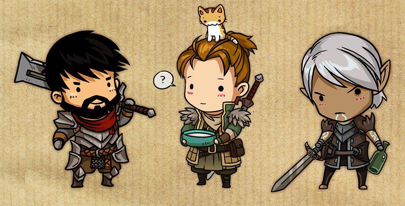 Tags: Anime, Dragon Age, Dragon Age 2, Hawke (Dragon Age 2), Anders (Dragon Age 2), Fenris, Garrett Hawke, Milk, Facebook Cover