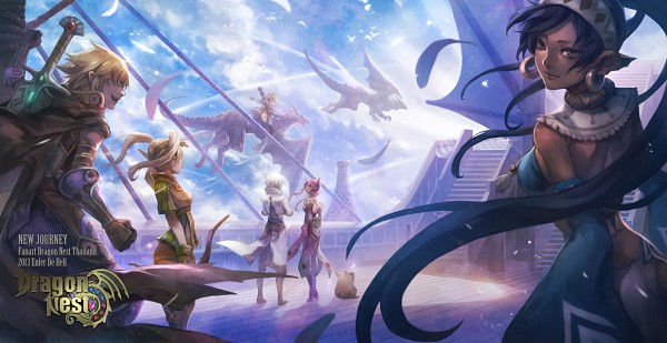 Tags: Anime, Enferdehell, Dragon Nest, Archer (Dragon Nest), Cleric (Dragon Nest), Warrior (Dragon Nest), Kali (Dragon Nest), Dragon Riding, deviantART, Facebook Cover