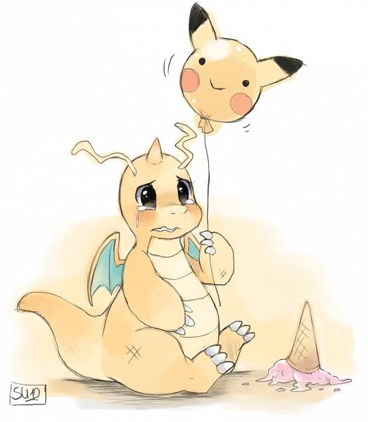 Tags: Anime, suikuzu, Pokémon, Dragonite, Pikachu