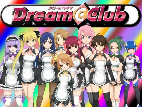Tags: Anime, Dream Club, Rui (Dream Club), Airi (Dream Club), Reika (Dream Club), Mio (Dream Club), Amane (Dream Club), Nao, Mari, Mian, Futaba Riho, Setsu (Dream Club), Wallpaper