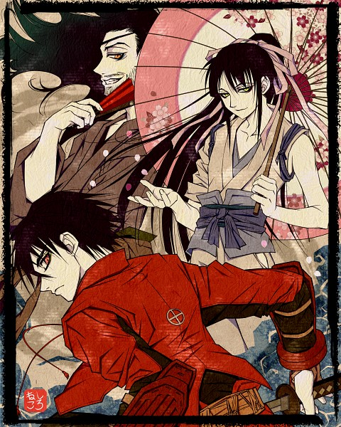 Tags: Anime, Pixiv Id 3699659, Drifters (Manga), Nasu no Yoichi (Drifters), Oda Nobunaga (Drifters), Shimazu Toyohisa, Stubble, Fanart, Fanart From Pixiv, Pixiv