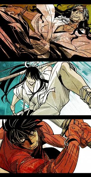 Tags: Anime, Batsu Bo To Bikan, Drifters (Manga), Oda Nobunaga (Drifters), Shimazu Toyohisa, Nasu no Yoichi (Drifters), Stubble, Fanart, Fanart From Pixiv, Pixiv