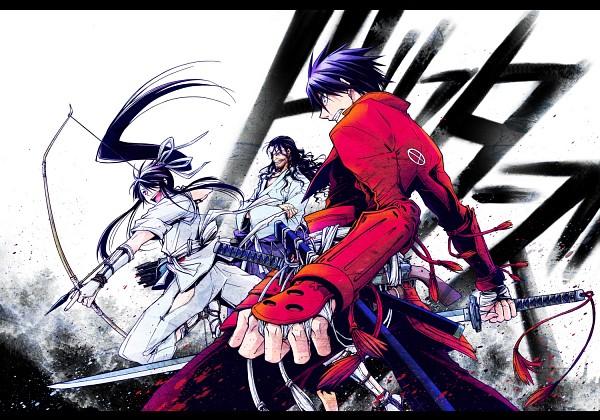 Tags: Anime, Nonoyama Saki, Drifters (Manga), Oda Nobunaga (Drifters), Shimazu Toyohisa, Nasu no Yoichi (Drifters), Stubble, Fanart From Pixiv, Pixiv, Fanart