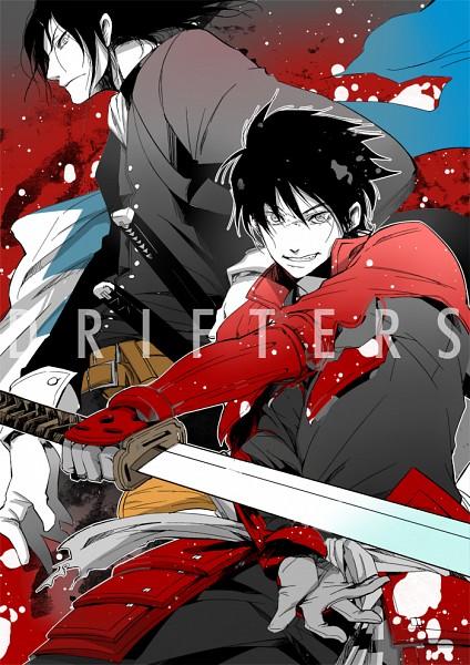 Tags: Anime, Miwa0926, Drifters (Manga), Hijikata Toshizo (Drifters), Shimazu Toyohisa, Mobile Wallpaper, Fanart From Pixiv, Pixiv, Fanart