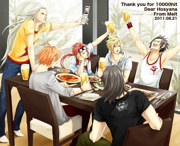 Tags: Anime, Moke, Crisis Core: Final Fantasy VII, Final Fantasy VII, Angeal Hewley, Cloud Strife, Reno, Genesis Rhapsodos, Zack Fair, Sephiroth, Fanart, Pixiv, Turks