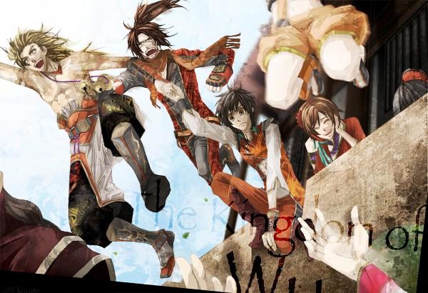 Tags: Anime, Pixiv Id 3276894, Dynasty Warriors, Da Qiao, Xiao Qiao, Gan Ning, Lu Xun, Sun Shang Xiang, Ling Tong, Fanart, Pixiv