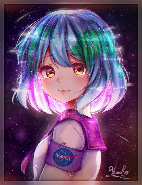 Tags: Anime, Vikarock, Earth-chan, Nasa, Fanart