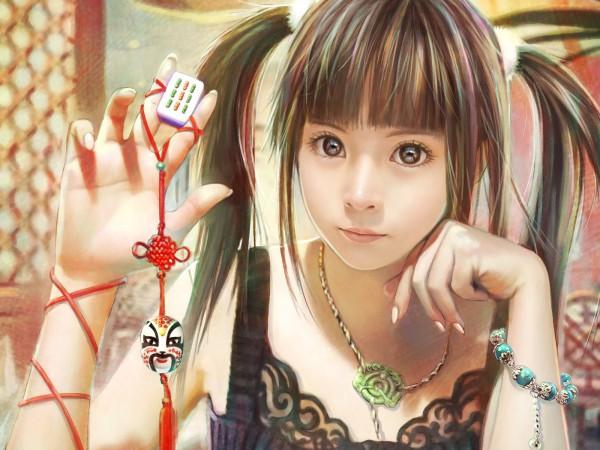 Tags: Anime, Eat (Mangaka), Mahjong, Brown Dress, Mahijong, Pixiv, 3D