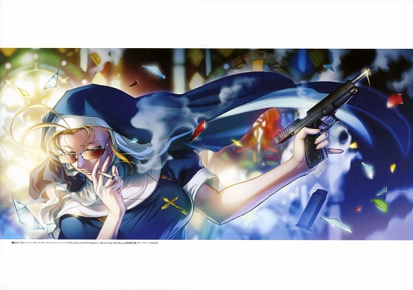 Tags: Anime, Hiroe Rei, Black Lagoon, Eda, Stained Glass, Scan, Official Art
