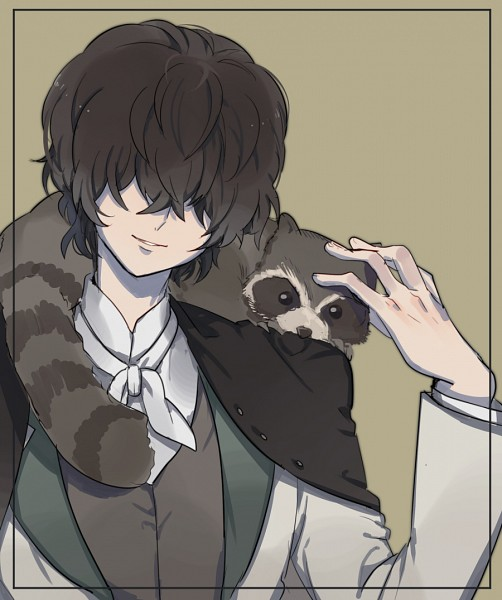 Tags: Anime, Pixiv Id 2765210, Bungou Stray Dogs, Edgar Allan Poe (Bungou Stray Dogs), Raccoon, Pixiv, Fanart, Fanart From Pixiv