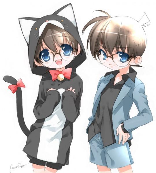 Tags: Anime, Toujou Sakana, Meitantei Conan, Edogawa Conan, Cat Costume, Pixiv, Fanart
