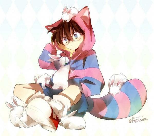 Tags: Anime, Aka Tonbo (Lililil), Meitantei Conan, Magic Kaito, Edogawa Conan, Cheshire Cat (Cosplay), Pixiv, Fanart From Pixiv, Fanart