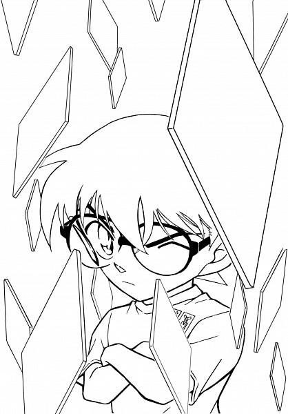 Tags: Anime, Aoyama Goushou, Meitantei Conan, Edogawa Conan, Line Art, Official Art, Coloring Page
