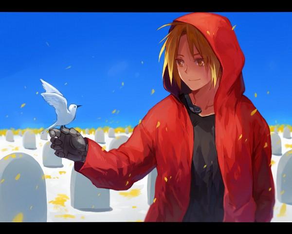 Tags: Anime, Riru, Fullmetal Alchemist, Edward Elric, Graveyard, Fanart, Pixiv, Fanart From Pixiv