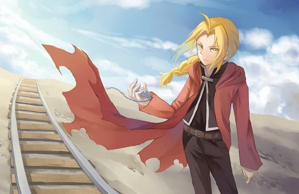 Tags: Anime, Pixiv Id 13301771, Fullmetal Alchemist, Edward Elric, Railroad Tracks, Pixiv, Fanart From Pixiv, Fanart