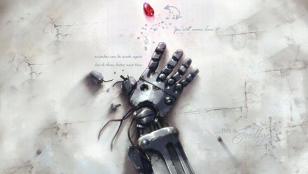 Tags: Anime, Fullmetal Alchemist Brotherhood, Fullmetal Alchemist, Edward Elric, Mechanical Arm, Prosthesis, Automail, Crushed, Artist Request, Wallpaper