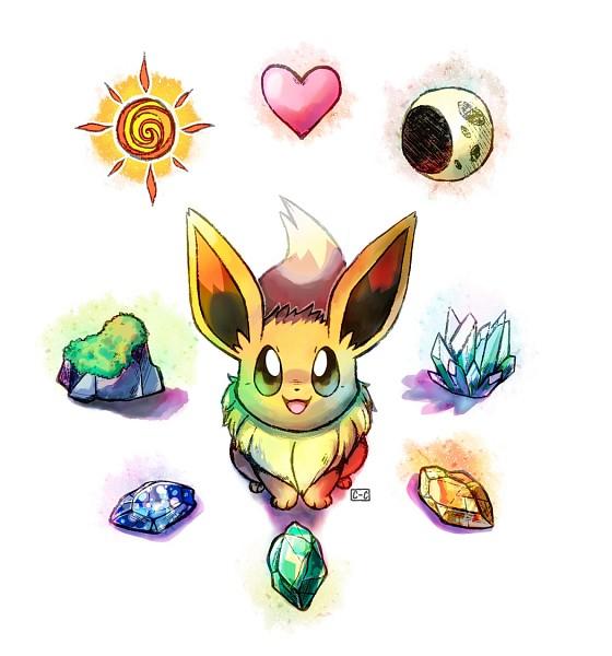 Tags: Anime, Crayon-chewer, Pokémon, Eevee, Evolutionary Stone, PNG Conversion, deviantART, Fanart From DeviantART, Fanart