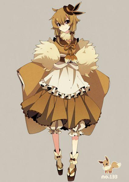 Tags: Anime, Fluorocarbon, Pokémon, Eevee, Brown Dress, Mobile Wallpaper, Pixiv, Requested Upload, Fanart From Pixiv, Fanart