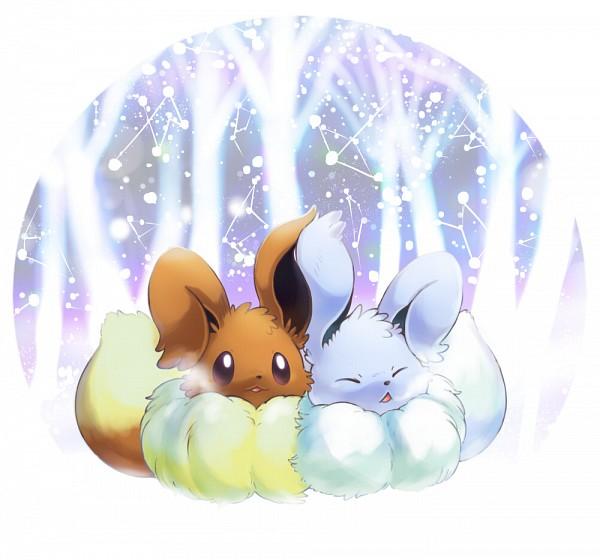 Tags: Anime, Ibui Matsumoto, Pokémon, Eevee, Pixiv, Shiny Pokémon, Fanart From Pixiv, Fanart