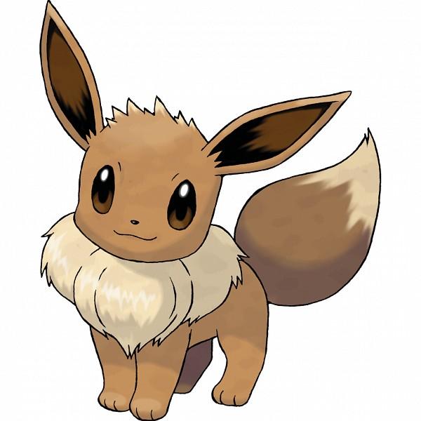 Tags: Anime, Sugimori Ken, GAME FREAK, Nintendo, Pokémon, Eevee, Official Art, Cover Image, PNG Conversion
