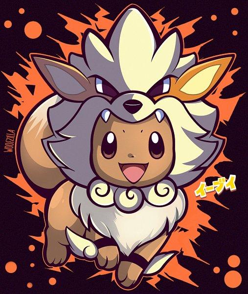 Tags: Anime, Woofzilla, Pokémon, Eevee, Arcanine (Cosplay), Pokémon (Cosplay), Fanart From Pixiv, Fanart, Self Made, Pixiv