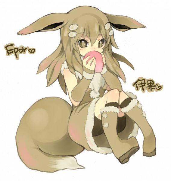 Tags: Anime, Puddingpudding, Pokémon, Eevee, Brown Dress, Brown Armwear, Fanart From Pixiv, Fanart, Pixiv