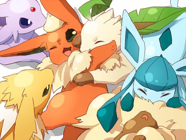 Tags: Anime, Amarisu, Pokémon, Glaceon, Leafeon, Espeon, Jolteon, Eevee, Flareon, Eeveelution