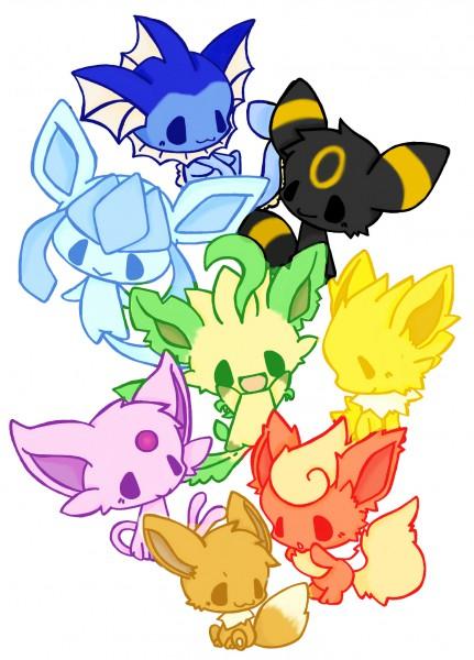 Tags: Anime, Pixiv Id 1171059, Pokémon, Eevee, Vaporeon, Glaceon, Jolteon, Leafeon, Flareon, Umbreon, Espeon, Mobile Wallpaper, Pixiv