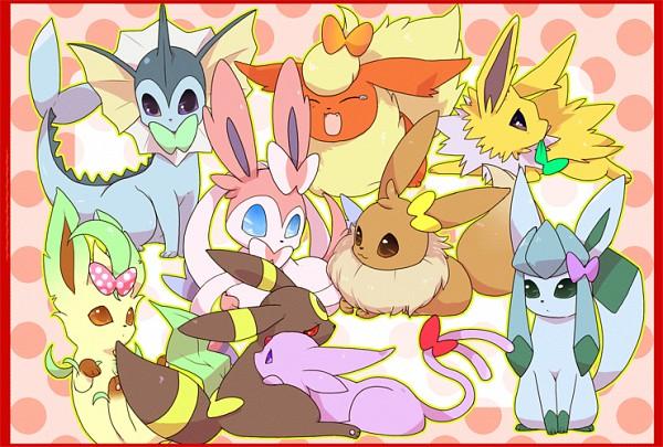 Tags: Anime, Pixiv Id 1440486, Pokémon, Espeon, Eevee, Vaporeon, Sylveon, Glaceon, Jolteon, Leafeon, Umbreon, Fanart, Pixiv