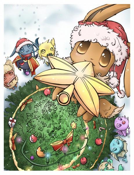Tags: Anime, Cinamoncune, Pokémon, Flareon, Umbreon, Espeon, Eevee, Vaporeon, Glaceon, Jolteon, Leafeon, Eeveelution
