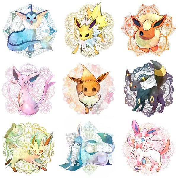 Tags: Anime, Pokémon, Eevee, Vaporeon, Glaceon, Jolteon, Leafeon, Flareon, Sylveon, Umbreon, Espeon, Eeveelution