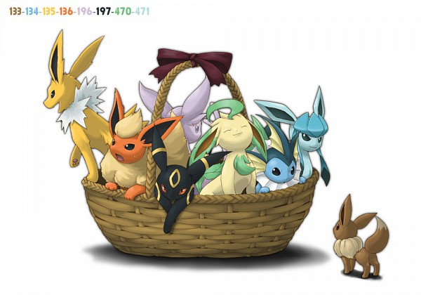 Tags: Anime, Ditb, Pokémon SPECIAL, Pokémon, Flareon, Umbreon, Espeon, Eevee, Vaporeon, Glaceon, Jolteon, Leafeon, Eeveelution
