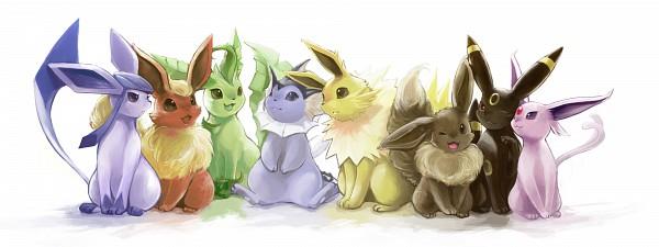 Tags: Anime, Nejita, Pokémon, Umbreon, Espeon, Eevee, Vaporeon, Glaceon, Jolteon, Leafeon, Flareon, Pixiv, Fanart