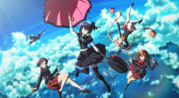 Tags: Anime, Ikeda Kazumi, Kyoto Animation, Chuunibyo Demo Koi ga Shitai!, Eiga Chuunibyou demo Koi ga Shitai! -Take On Me-, Tsuyuri Kumin, Nibutani Shinka, Takanashi Rikka, Dekomori Sanae, Official Art