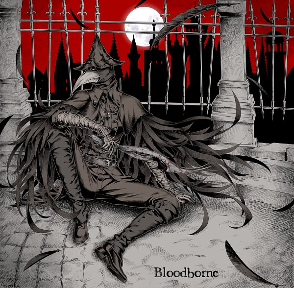 Tags: Anime, Pixiv Id 7299304, Bloodborne, Eileen the Crow, Red Sky, Fanart From Pixiv, Pixiv, Fanart