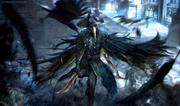 Tags: Anime, Sangrde, Bloodborne, Eileen the Crow, Black Bird, Blood On Weapons, Fanart From Pixiv, Pixiv, Fanart
