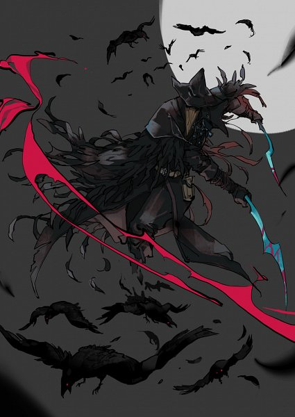 Tags: Anime, Pixiv Id 1736597, Bloodborne, Eileen the Crow, Black Bird, Fanart, Fanart From Pixiv, Pixiv