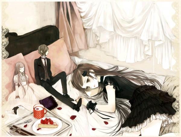 Tags: Anime, Eiri, Handkerchief, Lonely, Ball Jointed Doll, Milk, Original, Pixiv
