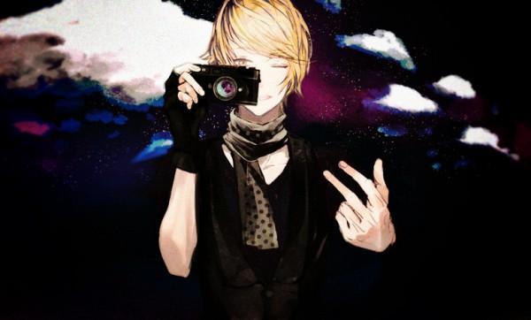 Tags: Anime, Eiri, Hipster, V-neck, Pixiv, Original