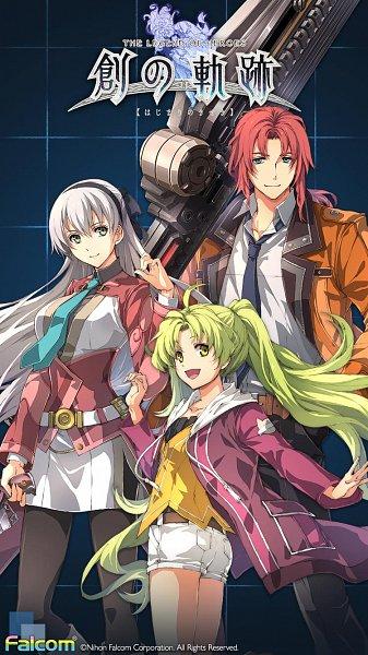 Tags: Anime, Falcom, Eiyuu Densetsu: Hajimari no Kiseki, Eiyuu Densetsu VII, Kea, Randy Orlando, Elie MacDowell, Mobile Wallpaper
