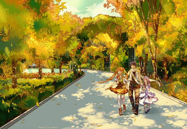 Tags: Anime, Beast7, Eiyuu Densetsu VI: Sora no Kiseki, Joshua Astray, Estelle Bright, Renne (Sora no Kiseki), Fanart, Pixiv, The Legend Of Heroes: Trails In The Sky