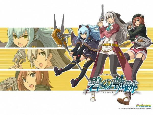 Tags: Anime, Falcom, Eiyuu Densetsu VI: Sora no Kiseki, Eiyuu Densetsu VII, Tio Plato, Noel Seeker, Elie MacDowell, Wallpaper, Official Art, Official Wallpaper