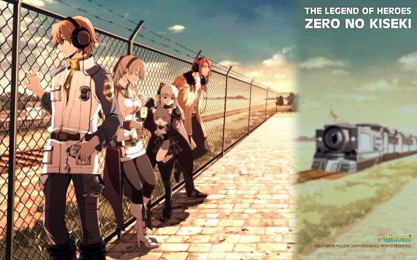 Tags: Anime, Falcom, Eiyuu Densetsu VII, Eiyuu Densetsu VI: Sora no Kiseki, Tio Plato, Randy Orlando, Elie MacDowell, Lloyd Bannings, Artist Request, Wallpaper, Official Art, Official Wallpaper