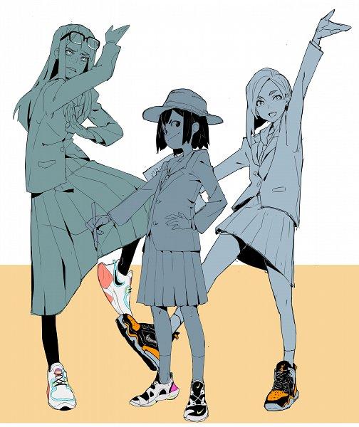 Tags: Anime, Makai, Eizouken ni wa Te wo Dasu na!, Kanamori Sayaka, Asakusa Midori, Mizusaki Tsubame