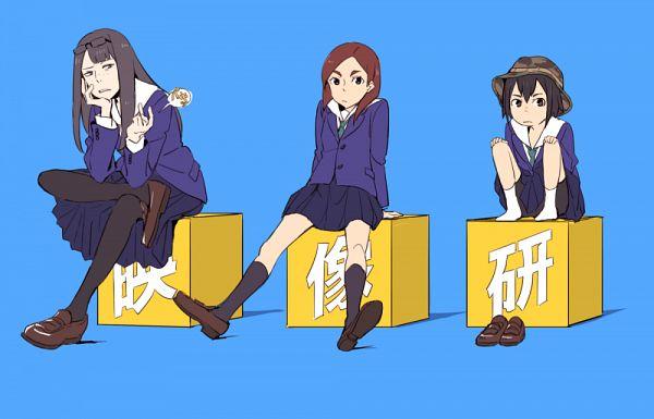 Tags: Anime, Eizouken ni wa Te wo Dasu na!, Asakusa Midori, Mizusaki Tsubame, Kanamori Sayaka